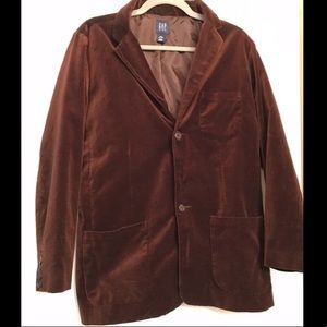 Gap Kids Brown Suede Blazer Jacket size XXL